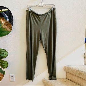 J.jill women's slim fit stretch pants green M